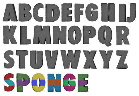 Alphabet éponge que vous pouvez colorer Banque d'images - 5588836