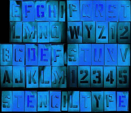 Grunge alfabet zodat kunt u uw bericht opstelt Stockfoto