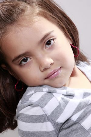 Peaceful expression from a cute preteen Stock Photo - 5674563