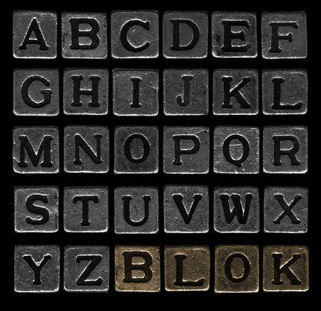 r p m: Miniature metallic block debpssed type