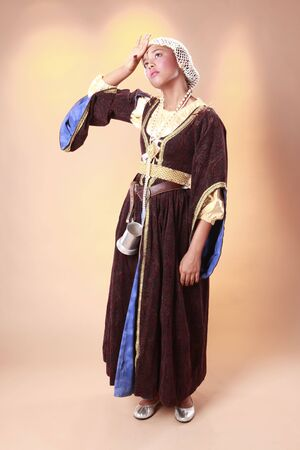 Cute medieval humble feudal vassal photo