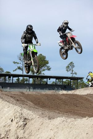 Opening Seminole motocross spring 2010 championship practices Stock Photo - 6889808