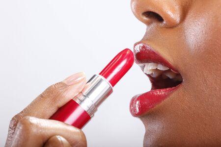 pintalabios: L�piz labial rojo