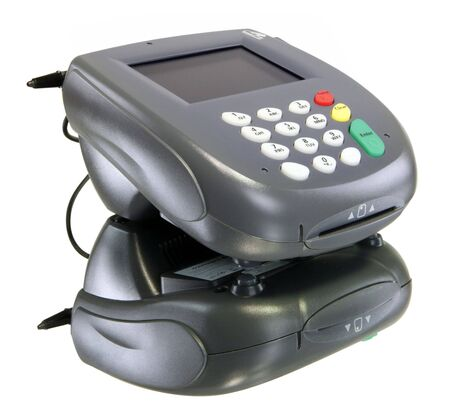 eftpos: Card reader, color screen with youe message here! Stock Photo