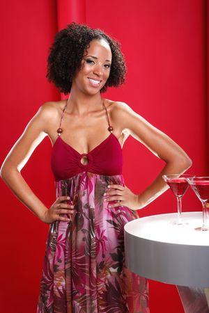 Nightclub afro-latina and Cosmopoliatn cocktail photo