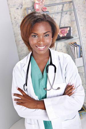 彼女のオフィスで医師の式