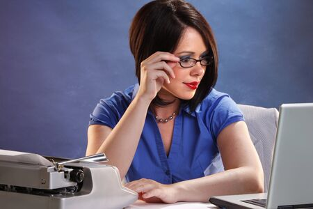 Transfer of old typed documents to modern computer photo