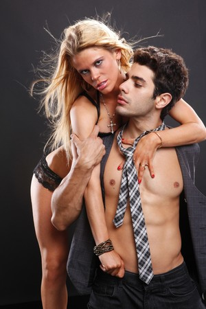 Passionate couple show their affection Stock Photo - 7484263