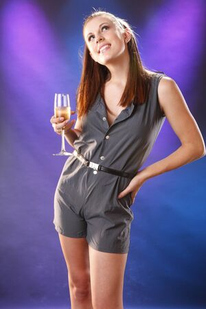 Young woman and white wine Stock Photo - 7746746