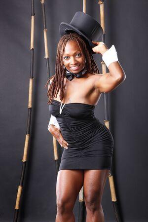 Cute african american master of ceremonies Stock Photo - 7847639