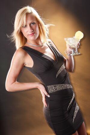 Next door blonde andsweet and sour cocktail Stock fotó