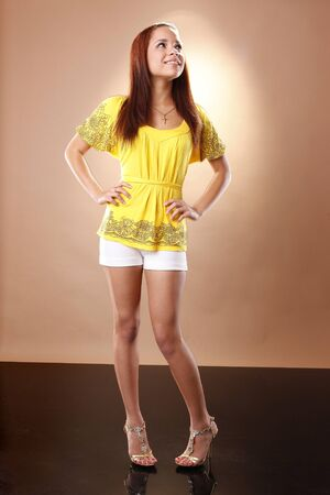 Preety teen in party attire photo