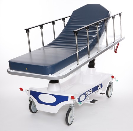 Mobile and adjustable hospital stretcher photo