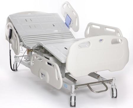 equipos medicos: Mobile y Camilla de hospital ajustable  Foto de archivo