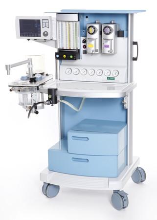 Modern medical emergency oxygen regulator Stock Photo