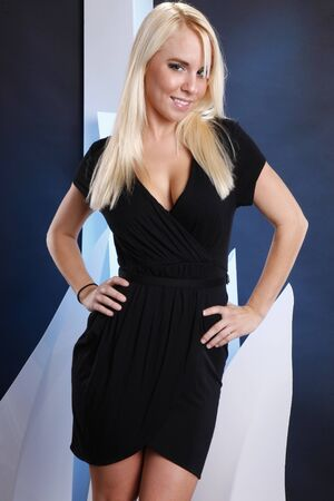 Young blond in formal dress photo