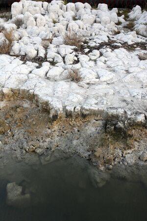 �rock formation�: Shoreline caribbean coral rock formation