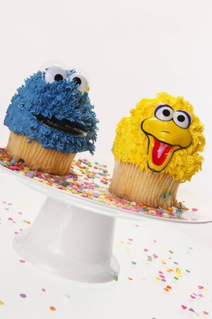 Creative cupcakes and party sprinkle Stock Photo - 8191276