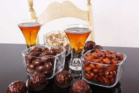 Almond liquor and almond snacks