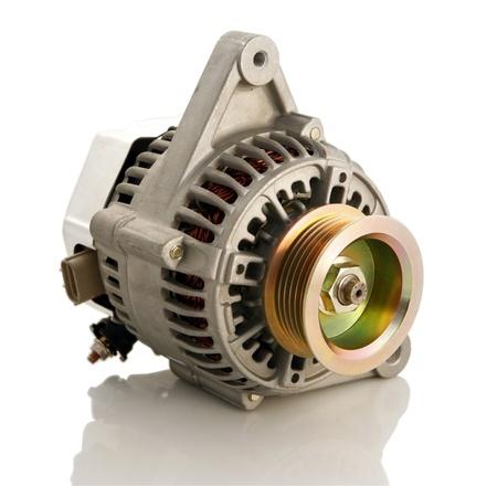 Generic electric automotive alternator isolated Stock Photo