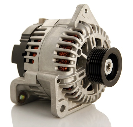 Generic electric automotive alternator isolated Reklamní fotografie