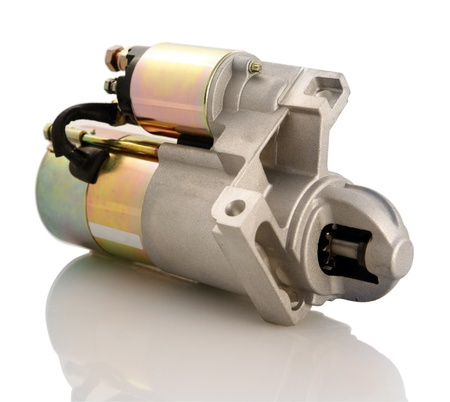 starter: Automotive starter motor and selenoid Stock Photo