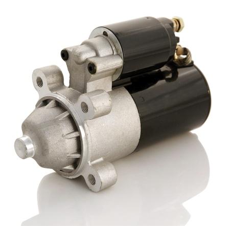 Automotive starter motor and selenoid Stock Photo