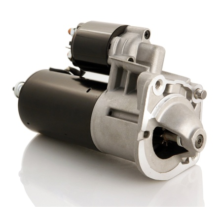 Automotive starter motor and selenoid Stock Photo