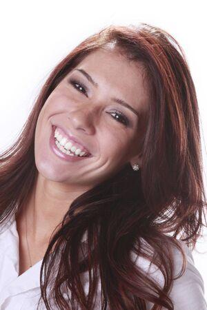 Head shot of a cute brunette photo