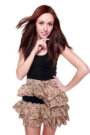 Fashionable next door girl isolated Stock Photo