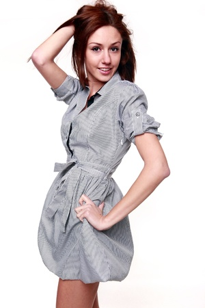 Cute next door girl isolated Stock Photo - 8706080
