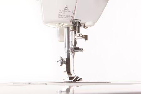 Modern sewing machine showing light