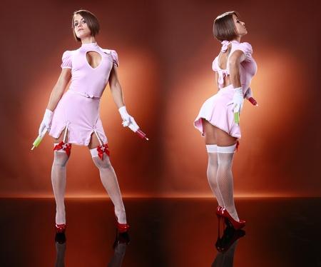 gelatin: Sexy nurse and gelatin cocktail syringes