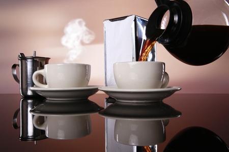 pour: Good morning coffee! Stock Photo