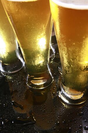 Cold beer in tall glasses Stock Photo - 10619946