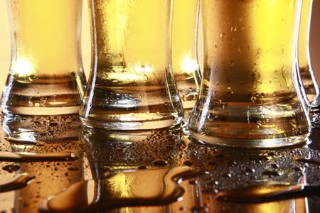 Cold beer in tall glasses Stock Photo - 10619940
