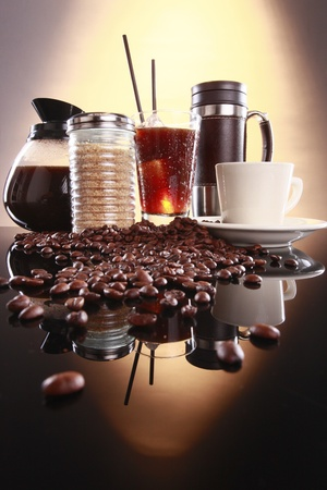 Hot or cold, here or take away coffee Stock Photo - 10619925