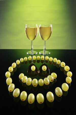 gimmick: This wine has a grape smiley! Stock Photo