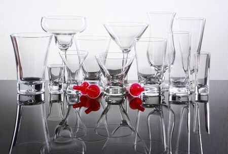 shooter drink: Bar supply of cocktail glasses and pourer