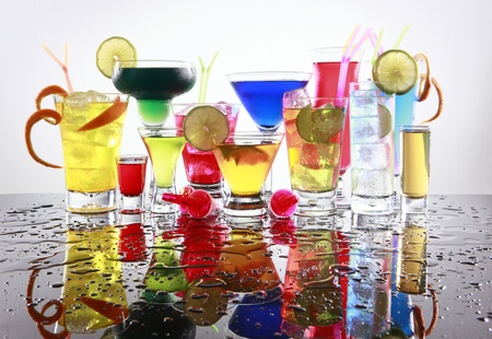 tom collins: Assorted cocktails fiesta style