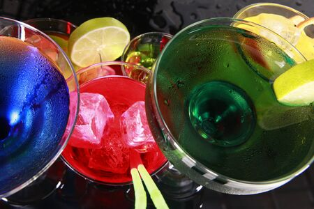 Assorted cocktails fiesta style photo