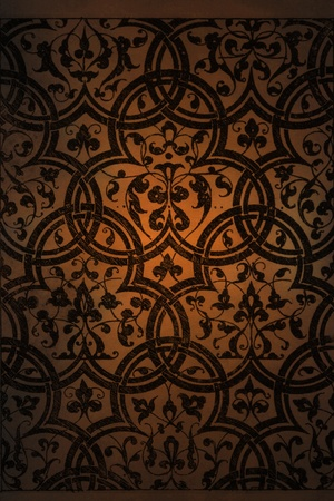 etched: Arabic background pattern Stock Photo