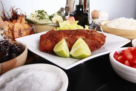 staple: Breaded fish and staple caribbean sides