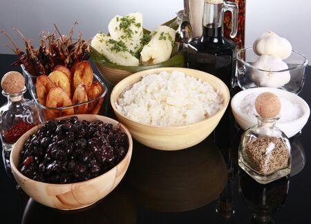 yucca: Staple latino sides, manioc, rice, plantains, and black beans