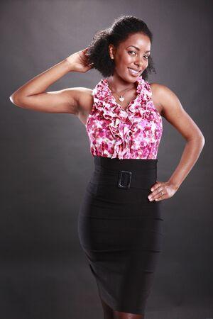 big women: Cute african american
