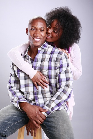 Young African American urban couple photo