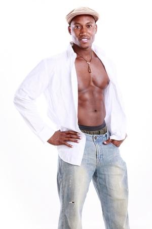 Ajuste el afroamericano Foto de archivo - 11890095