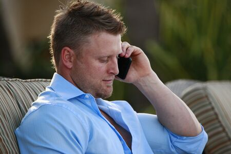 Young man on a call Stock Photo - 12662102