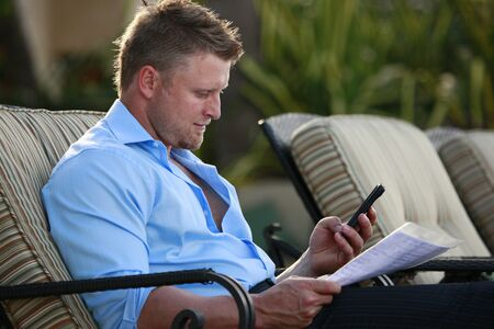 Texting about it Stock Photo - 12662101