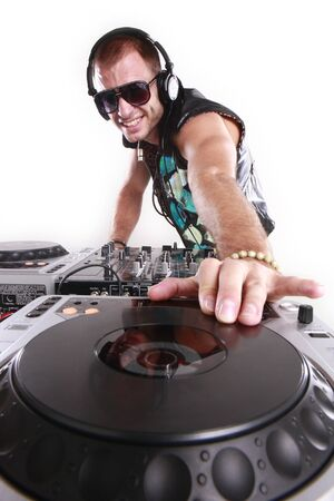 DJ at play Archivio Fotografico